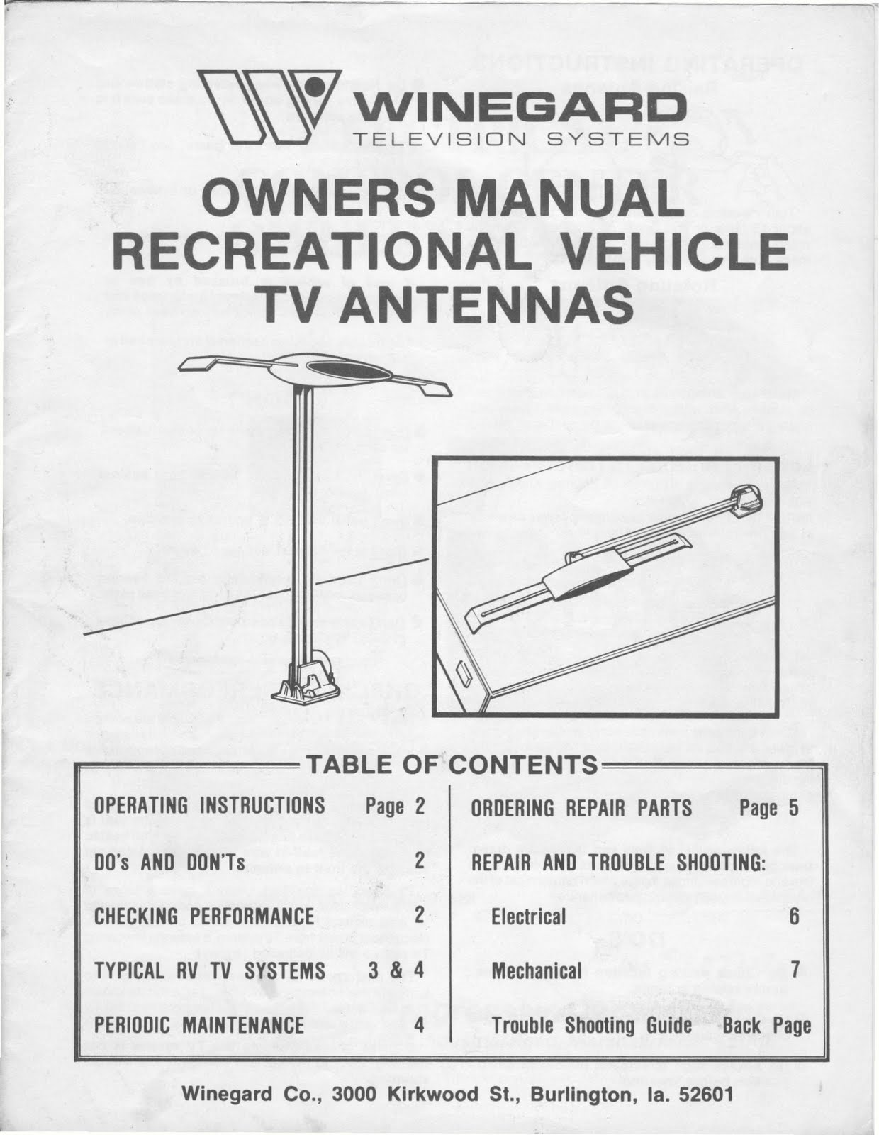ant parts diagram kenworth t800 battery wiring rv tv antenna